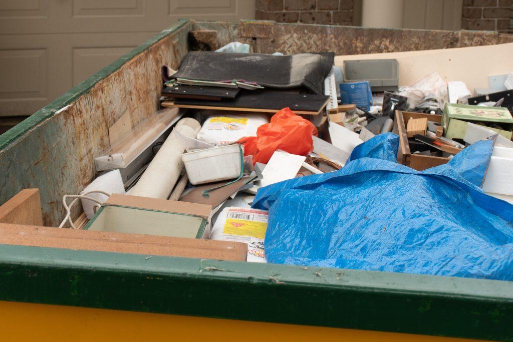 Household junk removal bin